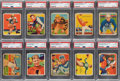 Football Cards:Lots, 1935 National Chicle Football PSA-Graded Collection (10)....