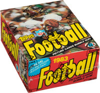 1983 Topps Football Wax Box With 36 Unopened Packs - Allen & Singletary Rookie Year