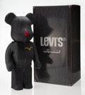 Collectible:Contemporary, BE@RBRICK X Levi's. Black Denim 1000%, 2010. Cast resin, with denim. 28-1/2 x 14-1/2 x 9 inches (72....