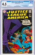 Silver Age (1956-1969):Superhero, Justice League of America #75 (DC, 1969) CGC VG+ 4.5 Off-white to white pages....