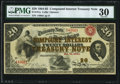 Fr. 191a $20 1864 Compound Interest Treasury Note PMG Very Fine 30