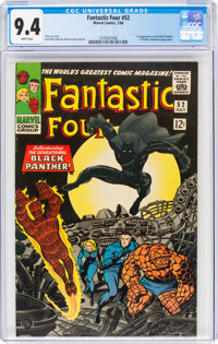 Fantastic Four #52 (Marvel, 1966) CGC NM 9.4 White pages