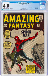 Amazing Fantasy #15 (Marvel, 1962) CGC VG 4.0 Off-white to white pages