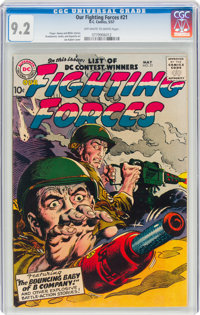 Our Fighting Forces #21 (DC, 1957) CGC NM- 9.2 Off-white to white pages