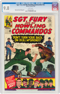 Sgt. Fury and His Howling Commandos #22 (Marvel, 1965) CGC NM/MT 9.8 White pages