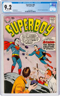 Silver Age (1956-1969):Superhero, Superboy #68 (DC, 1958) CGC NM- 9.2 Off-white pages....