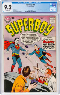Superboy #68 (DC, 1958) CGC NM- 9.2 Off-white pages