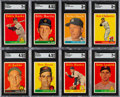 Baseball Cards:Sets, 1958 Topps Baseball Near Set (488/494) With 23 Yellow Letters....