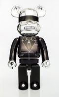 Collectible:Contemporary, BE@RBRICK X Daft Punk. Daft Punk 1000% (Silver), 2018. Painted cast resin. 28 x 13-1/2 x 9 inches (71.1 x 34.3 x 22.9 cm...