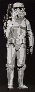 Works on Paper, Mr. Brainwash (b. 1966). Storm Trooper, 2011. Digital print on paper affixed to cardboard. 71 x 25 inches (180.3 x 63.5 ...