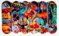 Collectible:Contemporary, Ron English X DGK. Untitled, set of six, n.d.. Offset lithographs in colors on skate decks. 32 x 8 inches (81.3 x 20.3 c... (Total: 6 Items)