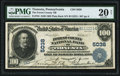Tionesta, PA - $100 1902 Plain Back Fr. 704 The Forest County National Bank Ch. # 5038 PMG Very Fine 20