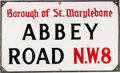 Music Memorabilia:Memorabilia, Abbey Road Original UK Street Sign. ...