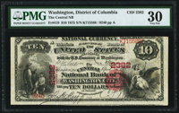Washington, DC - $10 1875 Fr. 419 The Central National Bank Ch. # 2382 PMG Very Fine 30