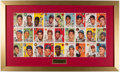 "Baseball Collectibles:Others, 1954 ""Sports Illustrated"" Topps Sheet Display...."