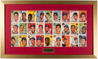 "1954 ""Sports Illustrated"" Topps Sheet Display"