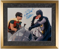 "Adam West ""Batman"" Signed & Framed Oversized Photograph"