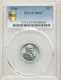 1943 1C MS67 PCGS. PCGS Population: (1752/61). NGC Census: (3784/22). CDN: $100 Whsle. Bid for problem-free NGC/PCGS MS6...
