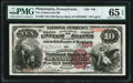National Bank Notes:Pennsylvania, Philadelphia, PA - $10 1882 Brown Back Fr. 480 The Commercial National Bank of Pennsylvania Ch. # 556 PMG Gem Uncircul...