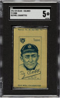 Baseball Cards:Singles (Pre-1930), 1911 S74 - Colored Silks Old Mill Ty Cobb SGC EX 5. ...