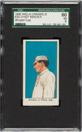 Baseball Cards:Singles (Pre-1930), 1909 E92 Nadja Caramels Chief Bender (Striped Cap) SGC 60 EX 5 - Only One Higher. ...