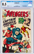 Silver Age (1956-1969):Superhero, The Avengers #4 (Marvel, 1964) CGC VF+ 8.5 Off-white to white pages....