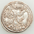 Ancients:India, Ancients: KUSHANO-SASANIAN KINGDOM. Varhran of Gandhara (ca. AD 355-365). AR drachm (28mm, 3.57 gm, 3h). XF....