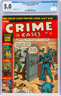 Golden Age (1938-1955):Crime, Crime Cases #10 (Atlas, 1952) CGC VG/FN 5.0 Cream to off-white pages....