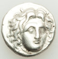 Ancients:Greek, Ancients: CARIAN ISLANDS. Rhodes. Ca. 305-275 BC. AR didrachm (19mm, 6.66 gm, 1h). VF....