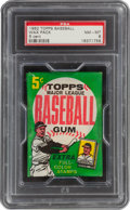 Baseball Cards:Unopened Packs/Display Boxes, 1962 Topps Baseball 5-Cent Wax Pack PSA NM-MT 8. ...