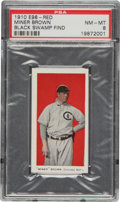 "Baseball Cards:Singles (Pre-1930), 1910 E98 ""Set of 30"" Mordecai Brown (Red) PSA NM-MT 8 - Black Swamp Find. ..."
