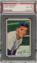 Baseball Cards:Singles (1950-1959), 1952 Bowman Mike Garcia #7 PSA NM-MT 8 - Only Two Higher....