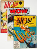 Golden Age (1938-1955):Miscellaneous, Wow Comics Group of 5 (Fawcett Publications, 1946-48) Condition: Average FN-.... (Total: 5 )