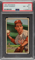 Baseball Cards:Singles (1950-1959), 1952 Bowman Gran Hamner #35 PSA NM-MT+ 8.5....