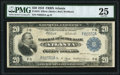Fr. 823 $20 1918 Federal Reserve Bank Note PMG Very Fine 25