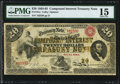 Fr. 191a $20 1864 Compound Interest Treasury Note PMG Choice Fine 15