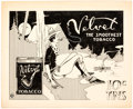 Original Comic Art:Illustrations, Edgar Church Velvet Tobacco Original Decorative Advertising Art (Ideal Art Service, c. 1920s). ...