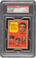 Baseball Cards:Unopened Packs/Display Boxes, 1962 Topps Baseball (1st Series) Cello Pack PSA Mint 9 - AL Strikeout Leaders Front! ...