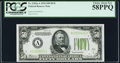 Small Size:Federal Reserve Notes, Fr. 2102-A $50 1934 Dark Green Seal Federal Reserve Note. PCGS Choice About New 58PPQ.. ...