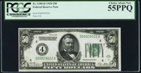 Fr. 2100-D $50 1928 Federal Reserve Note. PCGS Choice About New 55PPQ