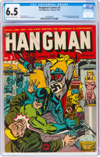 Hangman Comics #3 (MLJ, 1942) CGC FN+ 6.5 Cream to off-white pages