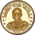 "Burundi, Burundi: Republic 5-Piece Uncertified gold ""First Anniversary of the Republic"" Proof Set 1967, ... (Total: 5 coins)"