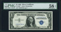 Small Size:Silver Certificates, Fr. 1607* $1 1935 Silver Certificate Star. PMG Choice About Unc 58 EPQ.. ...