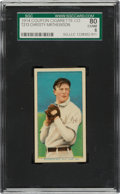 Baseball Cards:Singles (Pre-1930), 1914 T213 Coupon Cigarettes (Type 2) Christy Mathewson, Dark Cap SGC 80 EX-NM 6. ...