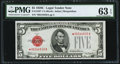 Fr. 1528* $5 1928C Legal Tender Star Note. PMG Choice Uncirculated 63 EPQ