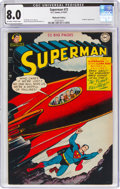 Golden Age (1938-1955):Superhero, Superman #72 Mohawk Valley Pedigree (DC, 1951) CGC VF 8.0 Off-white to white pages....