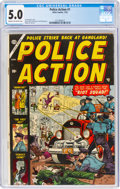 Golden Age (1938-1955):Crime, Police Action #1 (Atlas, 1954) CGC VG/FN 5.0 Cream to off-white pages....