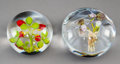 Glass, Two Paul Stankard Glass Paperweights, late 20th century. Marks: PS, (various). 2-3/8 inches (6.0 cm) (tallest). PROPER... (Total: 2 Items)