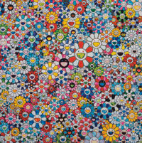Takashi Murakami (b. 1962) Flowers and Smiley Faces, 2013 Offset lithograph in colors on smooth wove