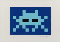 Invader (b. 1969) Invasion (Blue), 2009 Screenprint in colors with embossing on paper 11-1/2 x 16